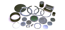 Samples of processing silicon/ceramics products